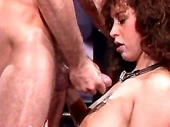 Two men sharing milf in doggy style