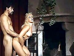 Blond milf gets nailed by fireplace