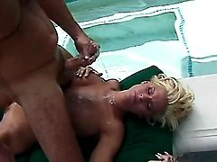 Beautiful milf gets cum after fuck