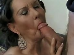 Depraved plump aged lady makes oral