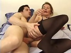 Aged mature has anal n gets facial